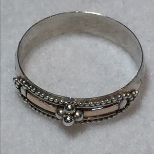 Gold and Sterling Silver Ring, Size 7
